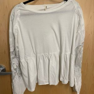 White Lacey t shirt